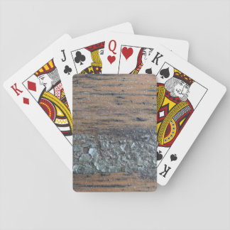 Image of Woodgrain and Varnish. Poker Cards