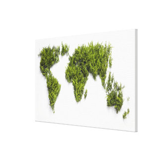 image of world map canvas print