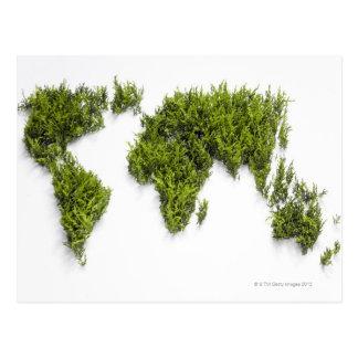 image of world map postcard