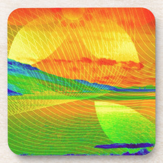 image Sunset abstractly Drink Coaster