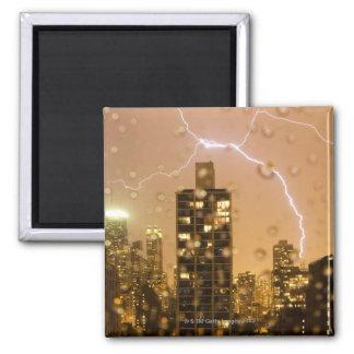 Image taken through rain splattered window 2 inch square magnet