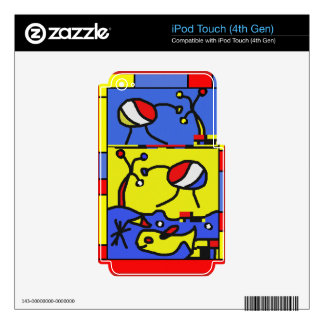 Image with fish modern art decals for iPod touch 4G