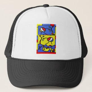 Image with fish modern art trucker hat