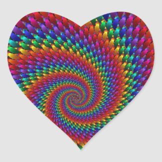 imagem abtrato em espiral heart sticker