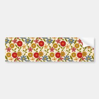 imagem com flores bumper sticker
