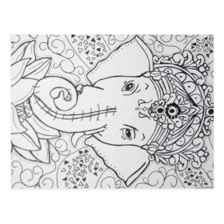 imagem de elefante postcard