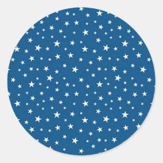 imagem de estrelinhas classic round sticker
