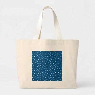 imagem de estrelinhas large tote bag