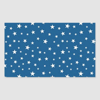 imagem de estrelinhas rectangular sticker