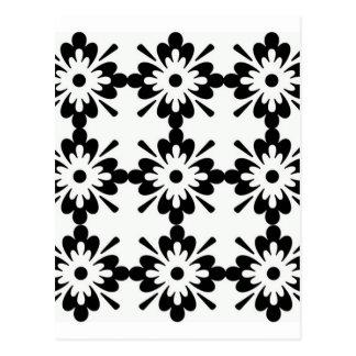 imagem de flor preta tipo estrela postcard