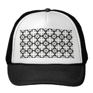 imagem de flor preta tipo estrela trucker hat