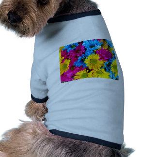 imagem de flores dog tee shirt
