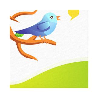 imagem de passarinho canvas print