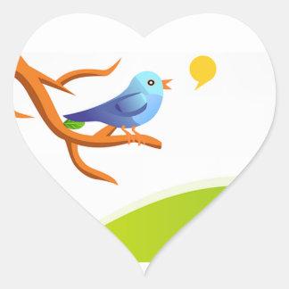 imagem de passarinho heart sticker