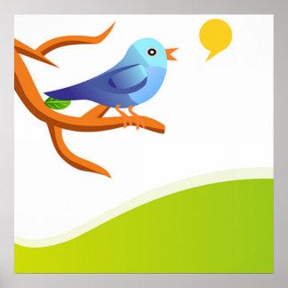 imagem de passarinho poster