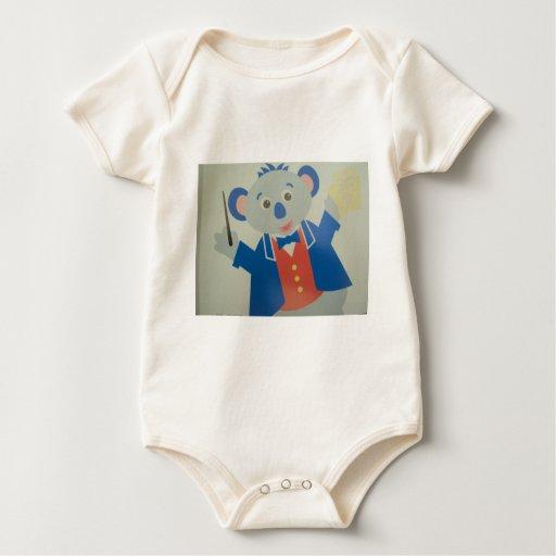 imagem de rato musico traje de bebé