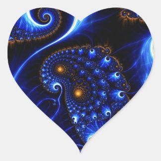 imagem do fundo do mar autocolante de coração