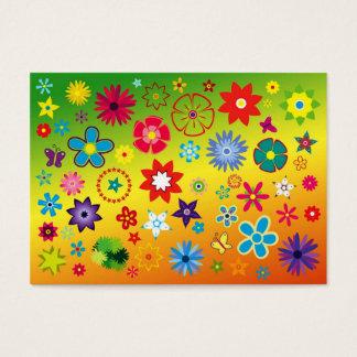 imagem floral diversas cores business card