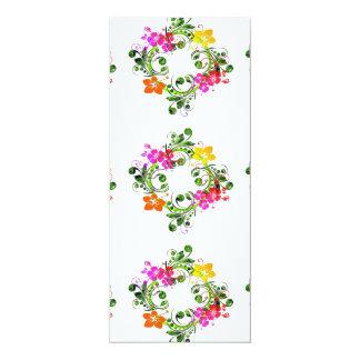 imagem floral em circulo card