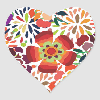 imagem floral heart sticker