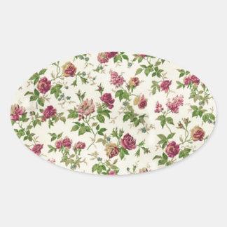 imagem floral linda oval sticker