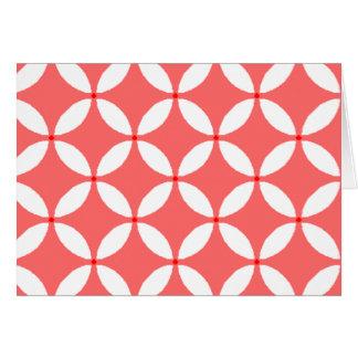 imagem formas geometricas  branco em fundo vermelh card