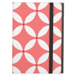 imagem formas geometricas  branco em fundo vermelh iPad air cover