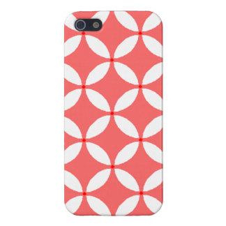 imagem formas geometricas  branco em fundo vermelh iPhone SE/5/5s cover