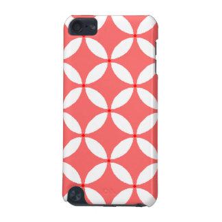 imagem formas geometricas  branco em fundo vermelh iPod touch (5th generation) cover