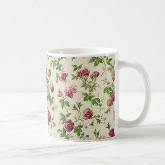 imagem linda floral taza básica blanca