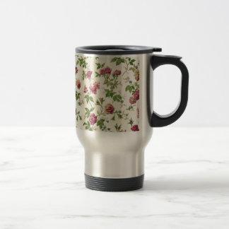 imagem linda floral taza de viaje de acero inoxidable