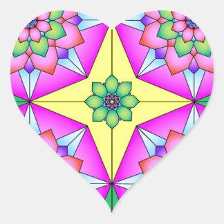 imagem tipo moisaico heart sticker