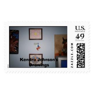 Imagen 004, dibujos de Kendra Johnson Sello