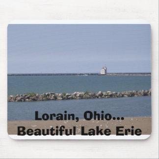 Imagen 012, Lorain, Ohio… El lago Erie hermoso Tapetes De Ratones