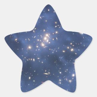 Imagen 1 del campo de estrella de Hubble Pegatina En Forma De Estrella