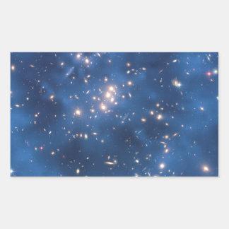 Imagen 1 del campo de estrella de Hubble Pegatina Rectangular