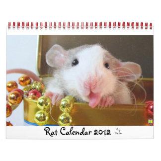 Imagen 2012 de la rata calendarios de pared