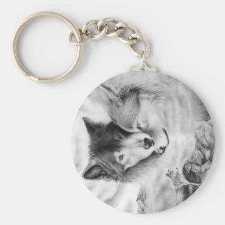 imagen 3-2 del lobo llaveros personalizados