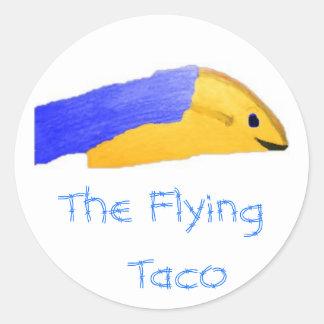 Imagen 73 el Taco del vuelo Pegatinas Redondas