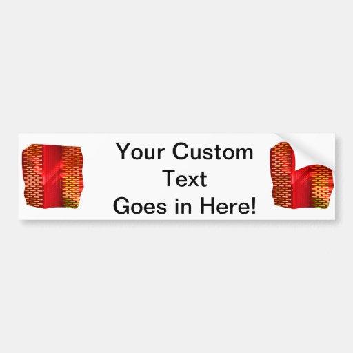 Imagen abstracta amarilla roja del recorte de las  pegatina para auto