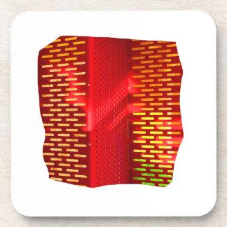 Imagen abstracta amarilla roja del recorte de las  posavasos de bebidas