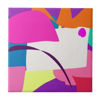 Imagen abstracta colorida azulejo cuadrado pequeño
