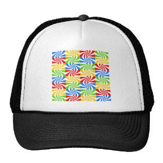 Imagen abstracta colorida dulce gorras de camionero