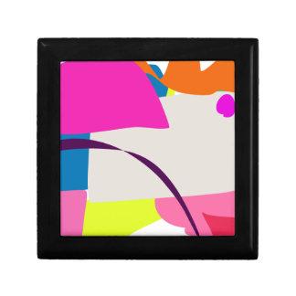 Imagen abstracta colorida joyero cuadrado pequeño