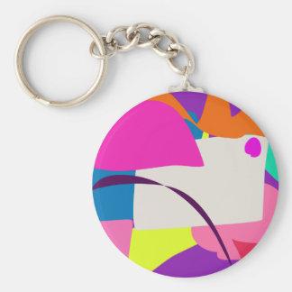 Imagen abstracta colorida llavero redondo tipo pin