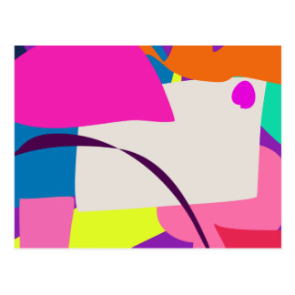 Imagen abstracta colorida postal