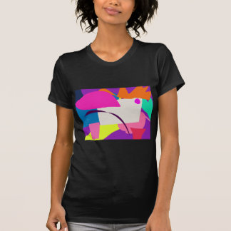 Imagen abstracta colorida remera