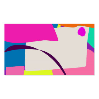 Imagen abstracta colorida tarjetas de visita