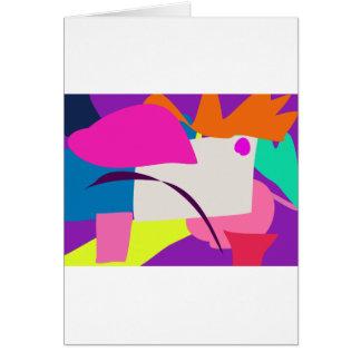 Imagen abstracta colorida tarjeta de felicitación