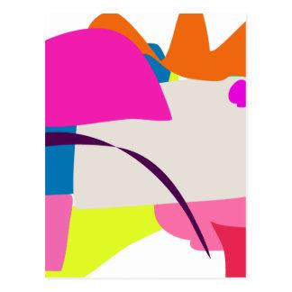 Imagen abstracta colorida tarjetas postales